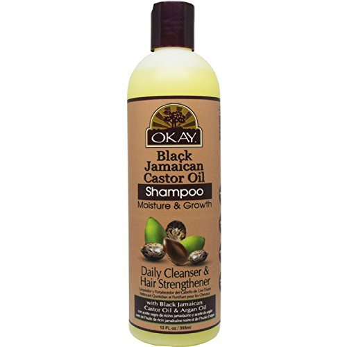 Okay Black Jamaican Castor Oil, Moisture Growth Shampoo, 12 oz.
