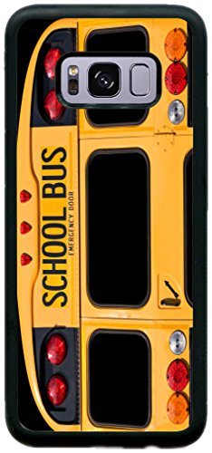 Rikki Knight Back Of A Yellow School Bus Design Samsung Galaxy S8 PLUS Case Cover (Black Rubber with front Bumper Protection) for Samsung Galaxy S8 PLUS ONLY (School Cases Bus)
