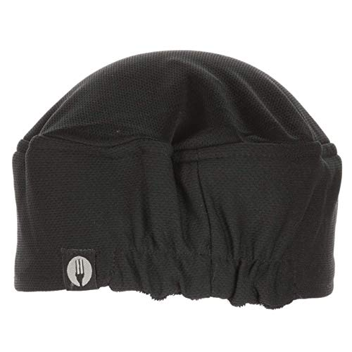 Chef Works Unisex Total Vent Chef Beanie, Black One Size (Hats Chef)