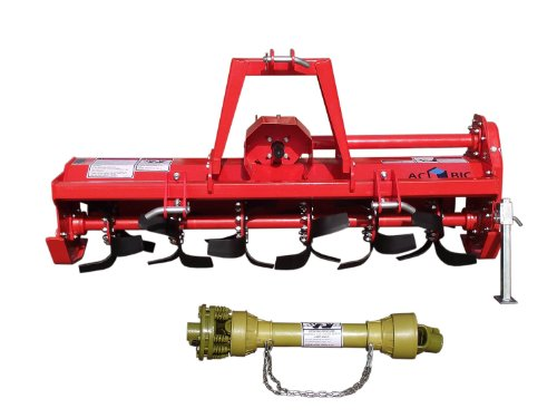 3pt Rotary Tiller Accubic#rta56, Cat1, 56in.working Width, Gear Drive, 36 Blades, Offset, Slip Clutch PTO by ACCUBIC (Image #1)