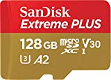 SanDisk Extreme 128GB microSDXC UHS-3 Card - SDSQXAF-128G-GN6MA [Newest Version]