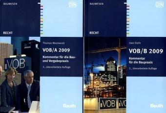 VOB/A 2009 + VOB/B 2009: Kommentare für die Bau- und Vergabepraxis Paket Broschiert – 2011 DIN e.V Beuth 3410204245 Bau- und Umwelttechnik