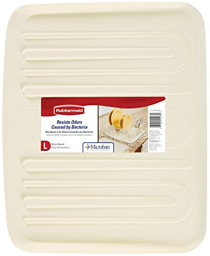 Rubbermaid Antimicrobial Drain Board, Small, Bisque 742096 ()