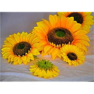ZJJZH Artificial Decorative Flowers Simulation Sun Flower Sunflower Fake Flower Show Props Flower Products Include:Artificial Flowers,Decorative Artificial Plants. 2