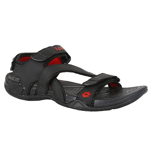ac651e9779ce Lotto Men Dylan Black Red Sandals Sandals 8 UK India  Buy Online at Low  Prices in India - Amazon.in