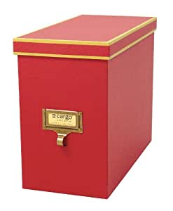 Cargo Atheneum File Box, Red, 9-1/2 by 12 by 5-1/2-Inch