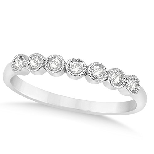 platinum cut stone wedding co diamond white bands radiant rings anniversary gabriel band gold