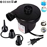 Xrime Electric Air Pump Inflate/Deflate AC 110V~120V for Family Use Portable Air Pump for Swimming Pools Rings Mattress Floats Rafts and Water Toys(0.55psi,405L/min,150W)