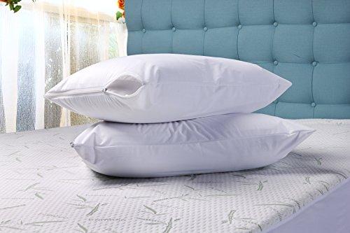 Zippered Pillow Cover Encasement Waterproof Bed Bug Proof