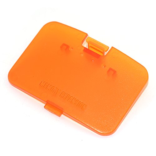 Cinpel Replacement Memory Expansion Cover for Nintendo 64 N64 Console Transparent Orange (Console Orange)
