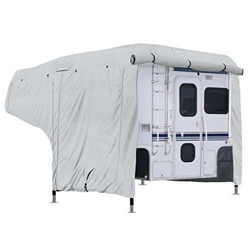 10' Campers (Classic Accessories OverDrive PermaPRO Deluxe Camper Cover, Fits 8' - 10' Campers - Lightweight Ripstop Fabric with RV Cover (80-258-141001-00))