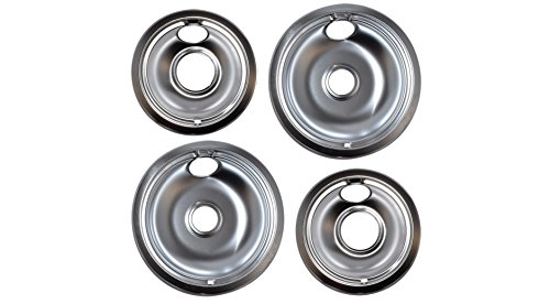 (Vastu Aftermarket Replacement Drip Pans for Whirlpool Range - 2 Large 8