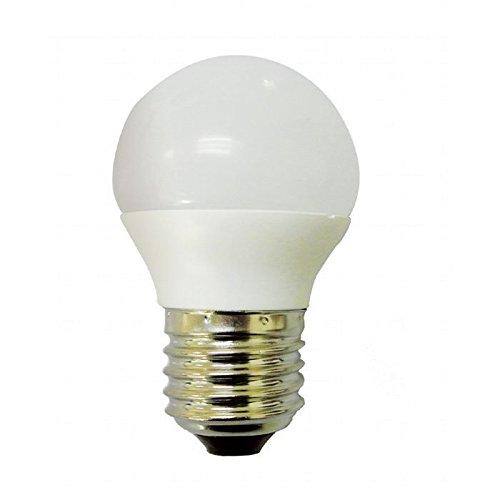 Bombilla 6w LED esférica. rosca E27. 500Lm equivalente a 60w. Luz neutra 4500K: Amazon.es: Iluminación