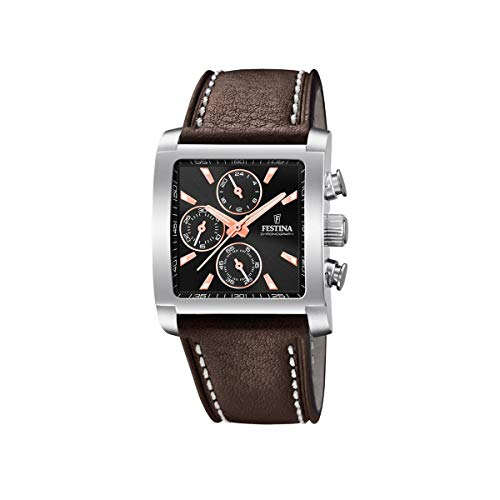 Festina Mens Chronograph Quartz Watch with Leather Strap F20424/4