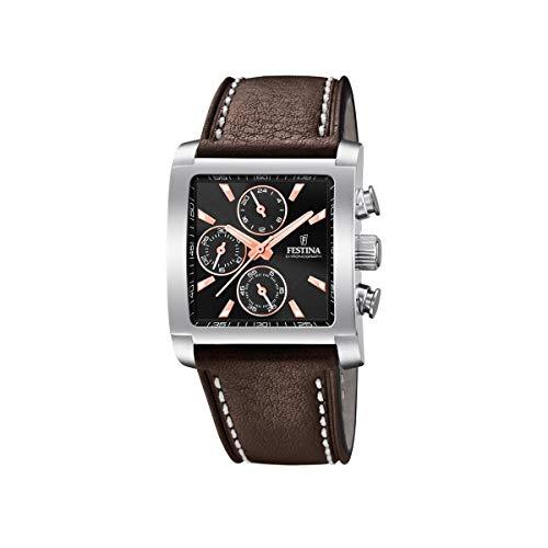 Festina Mens Chronograph Quartz Watch with Leather Strap F20424/4