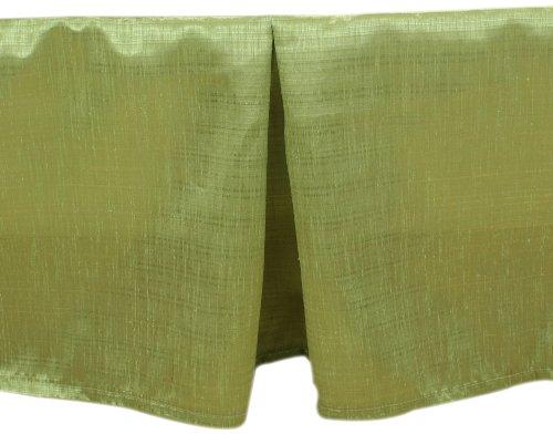 Brite Ideas Living Thai Olive Queen Bed Skirt, 14-Inch Drop