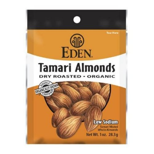 Eden Foods Organic Dry Roasted Tamari Almonds, 1 Ounce - 12 per case.