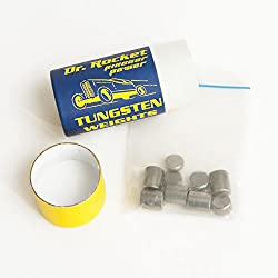 Rocket Box Pinewood Derby Weights Tungsten 3.25oz. Pinecar Power with Varied Sizes of Incremental Cylinders. Heavy With No Lead by Rocket Box Inc.