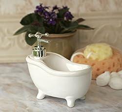2 in 1 Ceramic Kitchen/Bath Soap Dish And Dispenser