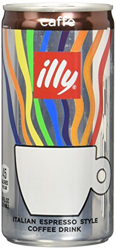 illy Ready-to-Drink Caffè, Authentic Italian Coffee, Made with 100% Arabica Coffee, All-Natural, No Preservatives, Beet Sugar, 6.8 fl oz (Pack of 12)