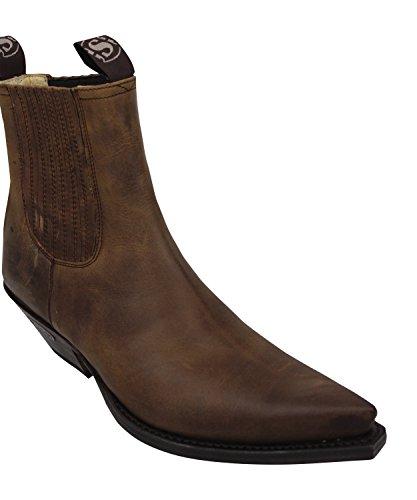Roy in Boots Lederfett Stiefellette und Sendra Dunn´s braun Stiefelknecht Cowboystiefel incl 1692 Stiefel XdU8q