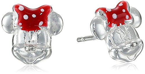 Disney Sterling Silver Minnie Mouse Bow Earring Studs