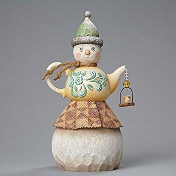 Jim Shore TEAPOT Snowman Figurine Polyresin River