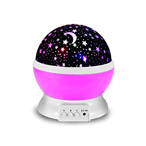 Night Lights for Kids, SHAVA Moon and Cosmos Starlight Projector Bedside Lamp for Baby Room Kids Bedroom Decorations - Birthday Gifts for Children (Pink) (Light Night Walmart)