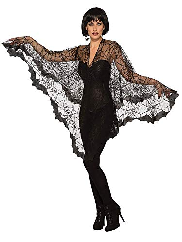 Forum Novelties, Bat-Poncho-Std, Black, Standard -