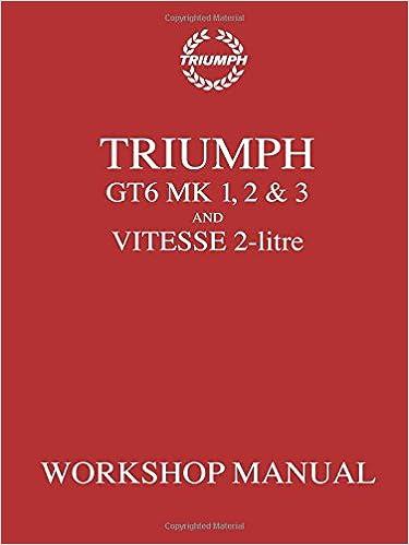 Triumph GT6 Mk1,2/&3 Vitesse 2-Lt WSM