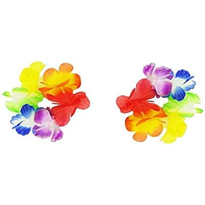 Black Temptation Pair Hawaiian Grass Skirt Accessories Wristband Perfect For Children Estimated Price £9.99 -