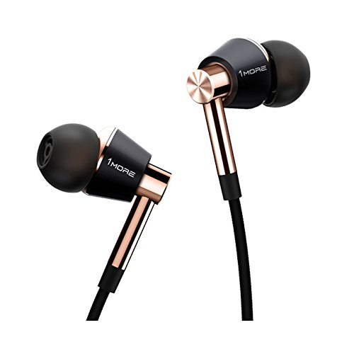 Price comparison product image NEW 1More E1001 Triple Driver In-Ear Headphone Universal fit Hi-Res Audio,  Gold