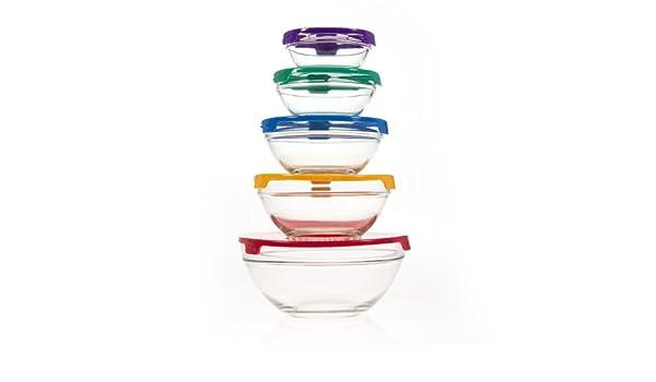 10 piezas juego de cuenco de cristal con tapa (apta para ...