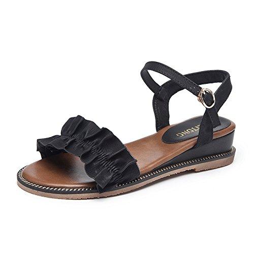 zapatos con Hebilla en palabras cien se nuevo apartamento black con estudiante inclina de sandalias verano de que 6OOqZRzWrY