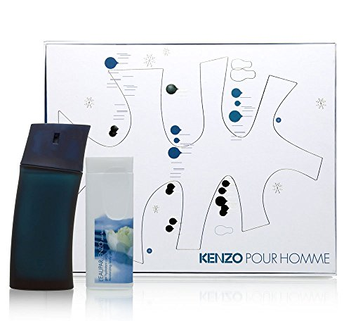 Kenzo Pour Homme by Kenzo for Men 2 Piece Set Includes: 1.7 oz Eau de Toilette Spray + 2.5 oz All Over Shower Gel