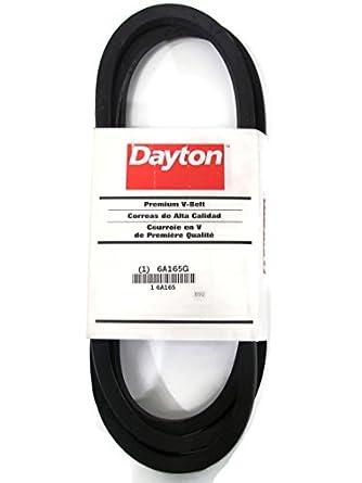 Amazon.com: Dayton Premium Correa de transmisión B92 6 a165g ...