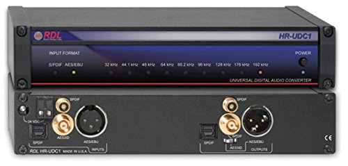 Radio Design Labs HR-UDC1 Universal Digital Audio Converter - AES/EBU / Coaxial or Optical S/PDIF / AES-3ID
