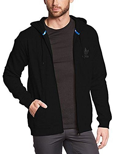 Adidas Originals Men's Sport Full Zip Hoodie Large Black