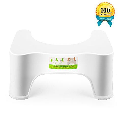 Potty Trainer Toilet Step Stool, The Bathroom Toilet Stool-White (8