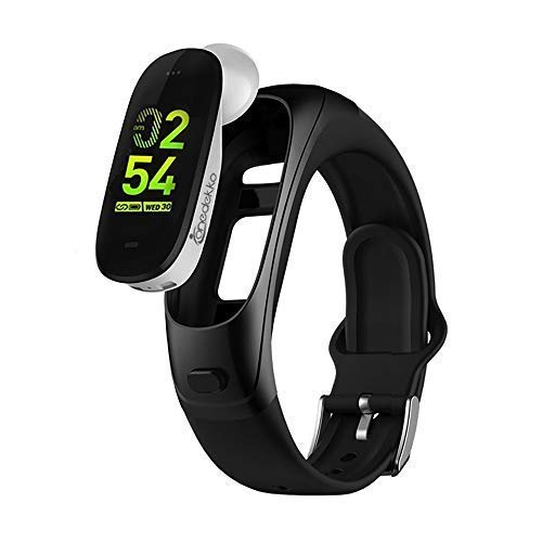 onedekko Smart Fitness Talkband - 2019 Design - B3 Smartwatch with Ear Phone, Blood Pressure, Heart Rate, Sleep Monitor