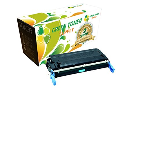 Green Toner SupplyTM Remanufactured Toner Cartridge Replacement for HP C9721A (Cyan)