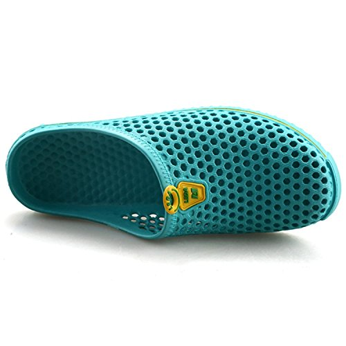 Highdas Zapatillas de Deporte Para Hombres y Mujeres Malla Transpirable de Verano Zapatillas de Jardín Vacías Zapatillas de Playa Ocasionales Zapatillas de Agua de Playa Zapatillas Lago azul
