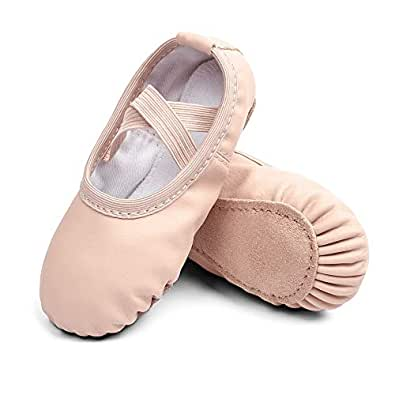 STELLE Girls Ballet Dance Shoes Slippers for Kids Toddler (Ballet Pink, 9MT)