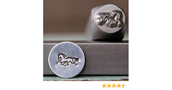 Supply Guy CH-302303 Brand New 5mm and 4mm Horseshoe Metal Punch Design 2 Stamp Set