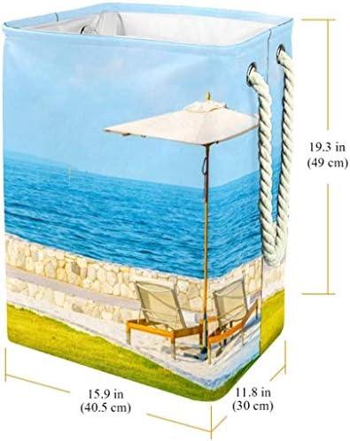 QYSZYG Sea Umbrella Voir Pliable Panier à Linge avec poignées Panier à Linge Panier de Rangement Grand Panier Nursery Panier de Rangement