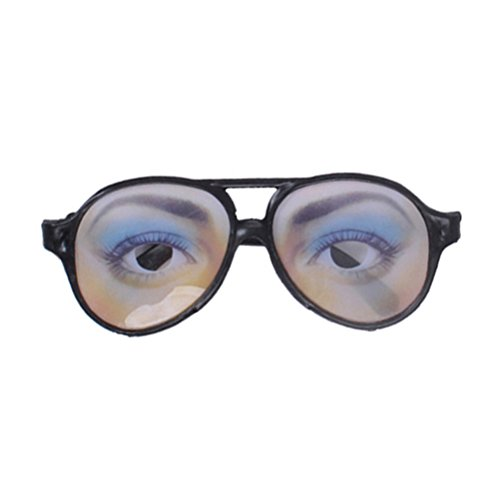Tinksky Halloween Trick Toy Female Funny Eyes Glasses Prank Disguise Eyeglass Party Props (Funny Eyeglasses)