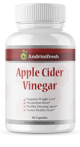 Andrinifresh Extra Strength Apple Cider Vinegar Capsules – Boasts A Powerful 1300mg Non GMO Premium Pill for Natural Weight Loss, Detox, Digestion Support & Metabolism Boost – Powerful Cleanser