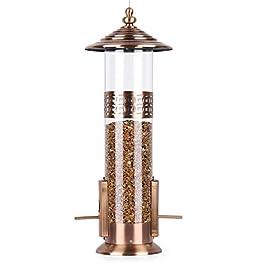 BOLITE 18019 Bird Feeder Squirrel Proof Bird Feeders for Outdoors Hanging Tube Feeder Wild Bird Feeders, Copper, 3lb