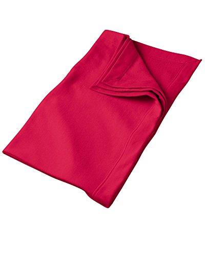 - Gildan 9.3 oz. DryBlend Fleece Stadium Blanket>One size RED G129