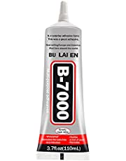 LA TIM'S B-7000 secondelijm, multifunctionele lijm, transperant-pasta, geschikt voor telefoonframes, bumper, sieraden, multifunctioneel, 110 ml, met 3 x reinigingsdoekje